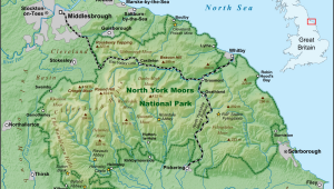 North Yorkshire England Map north York Moors Wikipedia
