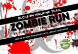 Northeast Texas Trail Map Greater Blossom Development association Zombie Run 5k 1 Mile Fun