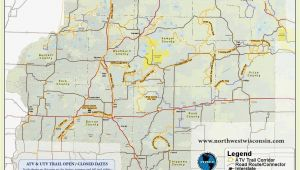 Northeast Texas Trail Map Nw Wisconsin atv Snowmobile Corridor Map 4 Wheeling Trail Maps