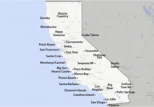 Northern California Lakes Map Maps Of California Created for Visitors and Travelers
