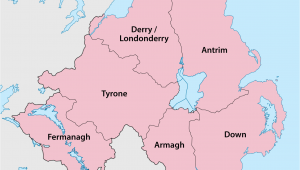 Northern Ireland Counties Map Counties Of northern Ireland Wikipedia