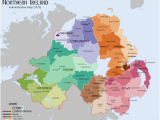 Northern Ireland Counties Map List Of Rural and Urban Districts In northern Ireland Revolvy