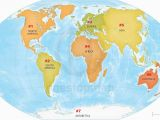 Numbered Map Of Europe the Continents Of the World Numbered and On A Map Of Planet