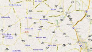 Ohio Amish Country Map Ohio Amish Country Map