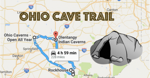 Ohio attractions Map This Map Shows the Shortest Route to 7 Of Ohio S Most Incredible