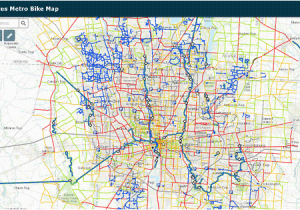 Ohio Bike Trails Map Columbus Metro Bike Map