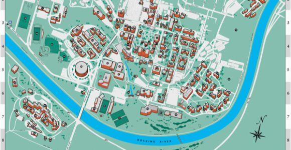 Ohio Colleges Map Ohio University S athens Campus Map