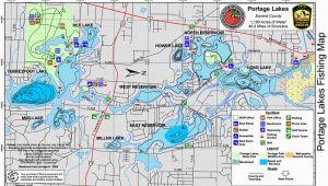 Ohio Dnr Fishing Maps Portage Lakes