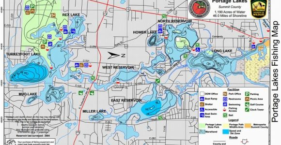 Ohio Dnr Fishing Maps Portage Lakes