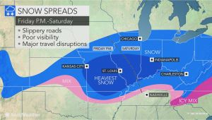 Ohio Doppler Radar Map Snowstorm Poised to Hinder Travel From Missouri Through Ohio