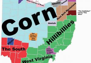 Ohio Map by County with Cities 8 Maps Of Ohio that are Just too Perfect and Hilarious Ohio Day