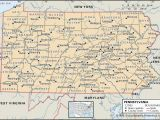 Ohio Map with Counties and Cities State and County Maps Of Pennsylvania