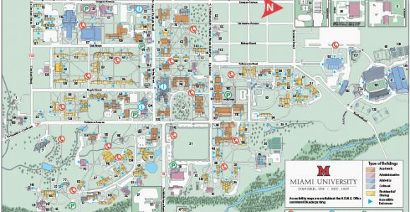 Ohio northern University Campus Map Ohio State University Campus Map Pdf Oxford Campus Maps Miami