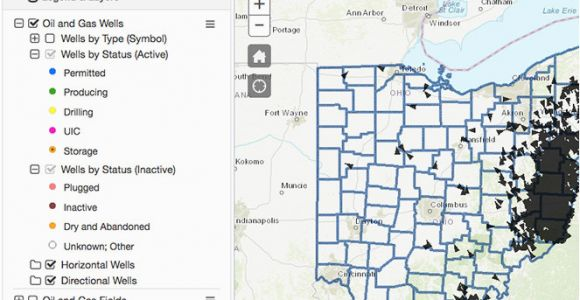 Ohio Oil and Gas Map Oil Gas Well Locator