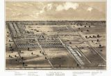 Ohio Prisons Map Vintage Map Of Camp Chase Ohio 1861 Fairfield County Poster