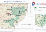 Ohio Representative District Map Ohio S 18th Congressional District Wikipedia