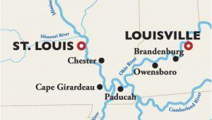 Ohio River Bridges Project Map Louisville to St Louis River Cruise