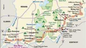 Ohio River Scenic byway Map Ohio River Maps Secretmuseum