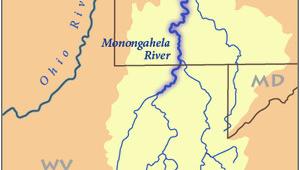 Ohio River Watershed Map Monongahela River Wikipedia