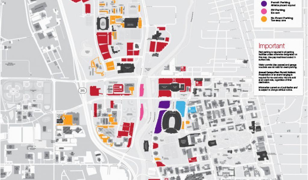 Ohio State Football Parking Map Cleveland Parking Map – secretmuseum