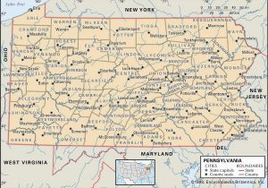 Ohio to Pennsylvania Map State and County Maps Of Pennsylvania