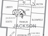 Ohio townships Map File Map Of Jackson County Ohio with Municipal and township Labels