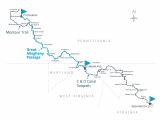 Ohio towpath Trail Map America S Friendliest Long Distance Rail Trail Great Allegheny Passage