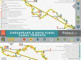 Ohio towpath Trail Map Gap Trail and C O Bikabout