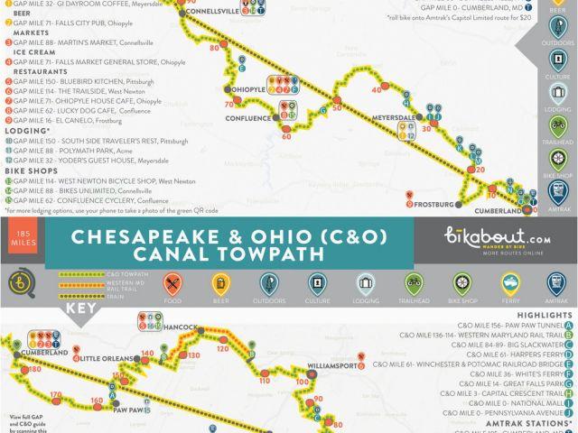 Ohio towpath Trail Map Gap Trail and C O Bikabout – secretmuseum on gap dayton map, gap bike path map, oklahoma atv trails map, fulda gap map, delaware water gap map,