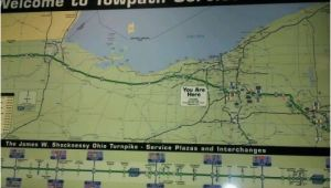 Ohio Turnpike Rest Stops Map Photos at towpath Service Plaza Eastbound Rest area