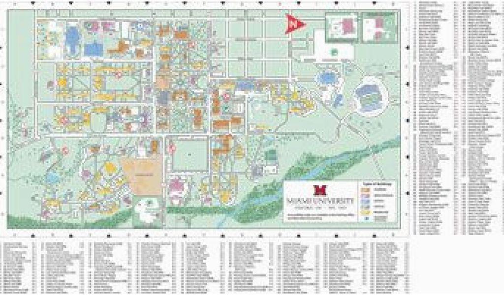 Miami Campus Map Ohio U Campus Map Oxford Campus Map Miami University Click to Pdf