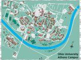 Ohio Universities and Colleges Map Ohio University S athens Campus Map