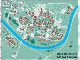 Ohio University Parking Map Ohio University S athens Campus Map