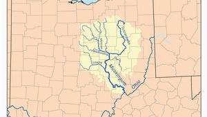 Ohio Watershed Map Muskingum River Revolvy