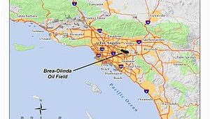 Oil Fields In California Map Brea Olinda Oil Field Wikipedia