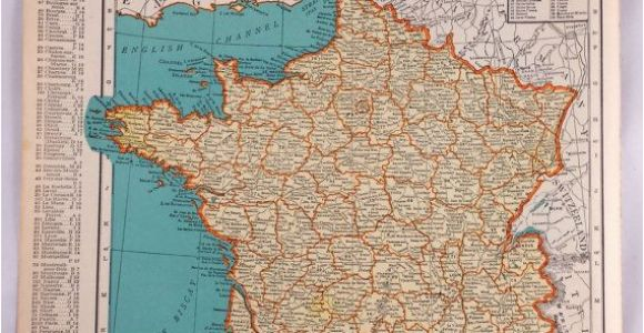 Old Maps Of France 1937 Map Of France Antique Map Of France 81 Yr Old Historical