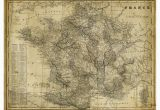 Old Maps Of France Art Effects Antique Map Of France Canvas Wall Art R17933