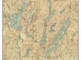 Old topographic Maps Of New England 14 Best Maine Lakes Old topo Maps Custom Reprints Images In