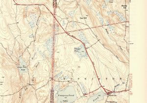 Old topographic Maps Of New England Voluntown Ct Ri Quadrangle