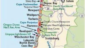 Oregon Coast towns Map Washington and oregon Coast Map Travel Places I D Love to Go
