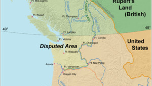 Oregon Country Map 1846 oregon Boundary Dispute Wikipedia