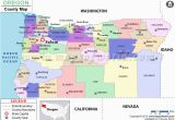 Oregon County Map Outline oregon Counties Maps Cities towns Full Color Modern Design 20540