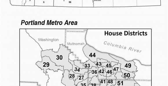 Oregon House Of Representatives District Map oregon Secretary Of State Senate Representative District Maps