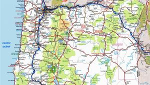 Oregon Road Map with Cities oregon Road Map