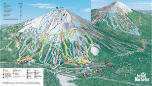 Oregon Ski Resorts Map Mt Bachelor Mt Bachelor oregon Skiing Ski Magazine Trail Maps