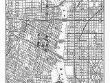 Oregon Unit Map Portland Street Map Vintage Print Poster Black and White Products