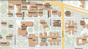 Oregon University Campus Map Maps University Of oregon