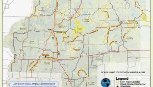 Oregon Wi Map Nw Wisconsin atv Snowmobile Corridor Map 4 Wheeling Trail Maps