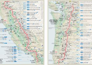 Pacific Crest Trail Map California Pct Trail Map Luxury Map ...