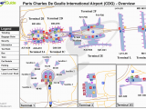Paris De Gaulle France Airport Map 50 Thorough Fco Airport Map Terminals